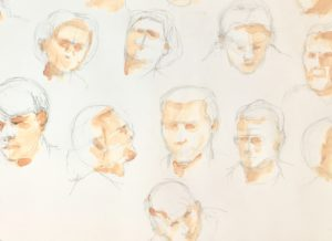 This workshop in Narbonne looks at how to sketch the human face - from different angles and in different styles - loads of fun!