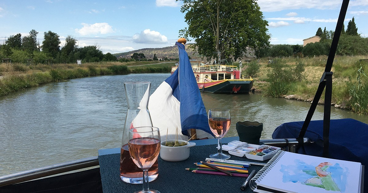 | Workshops, holidays and online courses to develop your sketching and watercolour skills whilst learning more about French life and culture.