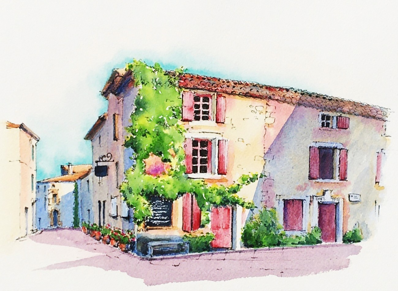 Wine Villages | Workshops, holidays and online courses to develop your sketching and watercolour skills whilst learning more about French life and culture.