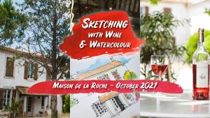 Sketching with Wine and Watercolour