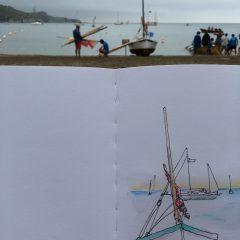 misty morning - first sketch